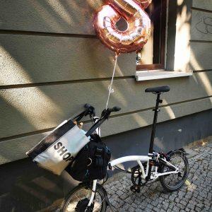 zur 8. Geburstagsparty mit dem Brompton Bicycle